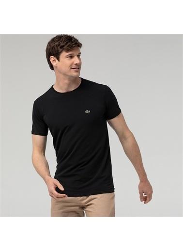 Lacoste  Slim Fit Bisiklet Yaka Pamuklu T Shirt Erkek T Shırt Th0998 031 Siyah